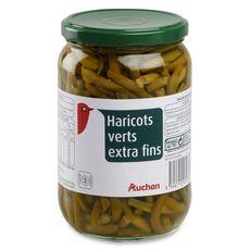 AUCHAN Auchan Haricots verts extra fins 680g 680g