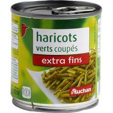 Auchan haricots verts extra fins coupés 110g