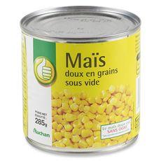 AUCHAN ESSENTIEL Maïs doux en grains sous vide 285g