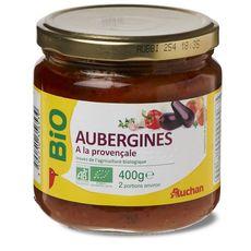 AUCHAN BIO Auchan Bio Aubergines à la provençale en bocal 400g 2 personnes 400g