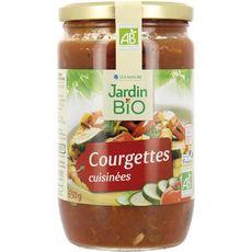 Jardin Bio Courgettes cuisinées en bocal fabriqué en France 650g