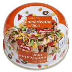 AUCHAN Salade de thon américaine 250g