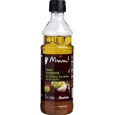 Gourmet AUCHAN MMM! Sauce vinaigrette au vinaigre de xérès, ail et basilic
