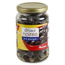 Auchan olives noires à la grecque 370ml