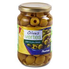 AUCHAN Olives vertes dénoyautées 160g