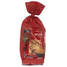 AUCHAN Nouilles pour wok en nids 250g