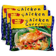 Wai Wai Nouilles asiatiques instantanées saveur poulet curry 3x60g