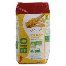 Auchan Bio Torsades au blé entier 500g