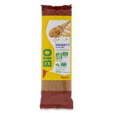 AUCHAN BIO Spaghetti au blé entier 500g