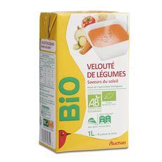 Auchan bio velouté de légumes saveurs du soleil brique 1l