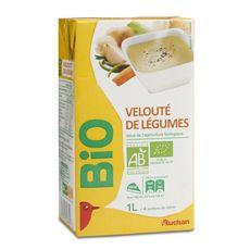 Auchan bio velouté de légumes variés 1l