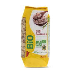 AUCHAN BIO Duo de riz de Camargue 500g