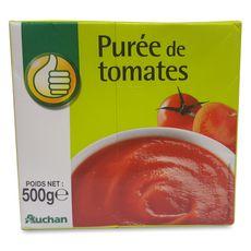 AUCHAN ESSENTIEL Purée de tomates, en brique 500g