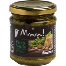 Gourmet AUCHAN MMM! Sauce pesto verde au basilic, en bocal