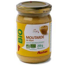 Auchan bio moutarde de dijon 200g
