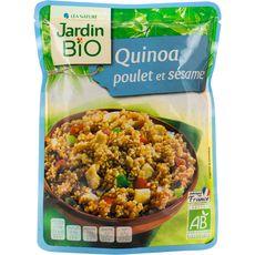 Jardin Bio quinoa émincé de poulet sésame 250g