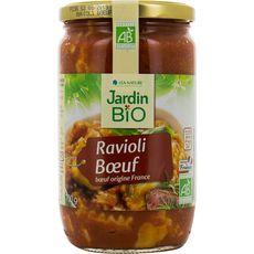 Jardin Bio Ravioli au bœuf origine France en bocal 700g