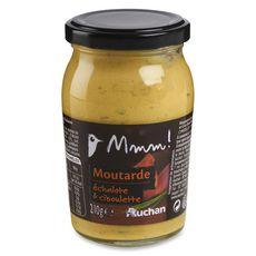 AUCHAN MMM! Moutarde échalotte et ciboulette 210g