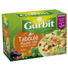 Garbit Taboulé poulet rôti légumes du soleil et basilic 525g
