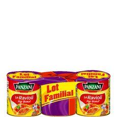PANZANI Ravioli pur boeuf 3x800g
