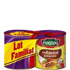 Panzani ravioli sauce bolognaise 2x800g lot familial
