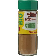 Auchan bio cannelle moulue flacon verre 40g