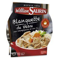William Saurin assiette blanquette de veau champignons 285g