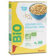 Auchan bio légumes secs épeautre orge vrac 400g