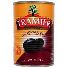 Tramier Olives noires dénoyautées 180g
