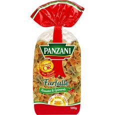 PANZANI Panzani pâtes farfalle aux épinards et à la tomate 500g