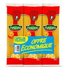 PANZANI Panzani fantaisie capellini 3x500g offre éco