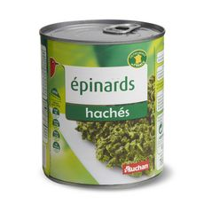 Auchan Epinards hachés 795g