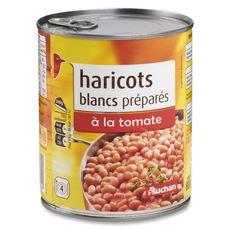 Auchan haricots blancs préparés à la tomate 500g