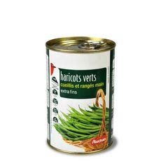 Auchan Haricots verts extra fins cueillis et rangés main 220g