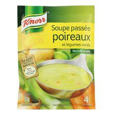 Knorr soupe passée légumes poireaux 110g soit 1l -4assiettes