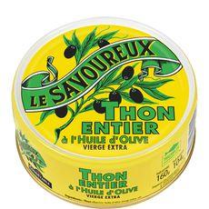 LE SAVOUREUX Thon entier à l'huile d'olive vierge extra 160g
