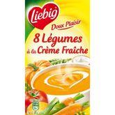 Liebig doux plaisirs 8 légumes et crème fraîche 1l