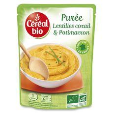 Céréal Bio Purée de lentilles corail et potimarron en poche 250g