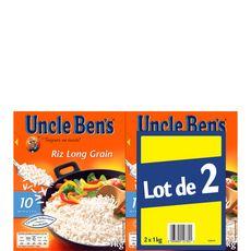 UNCLE BEN'S Uncle Bens riz long grain vrac pack 2x1kg