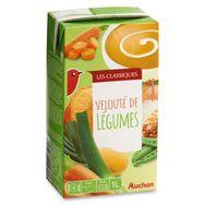 Auchan velouté de légumes variés 1l