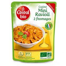 Céréal Bio CEREAL BIO Mini ravioli aux 2 fromages ss conservateur en poche fabriqué en France