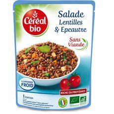 Céréal Bio salade de lentilles et épeautre tofu 220g