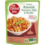 Céréal Bio raviolis au tofu basilic 267g