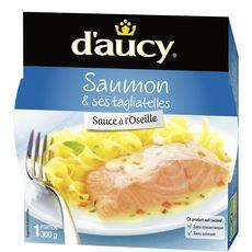D'Aucy filet de saumon et tagliatelles micro-ondable 300g