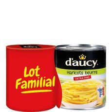 D'AUCY D'aucy haricots beurre extra fins 2x440g lot familial