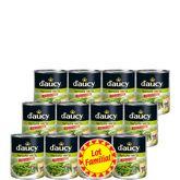 D'aucy haricots verts extra fins rangés 12x440g lot familial