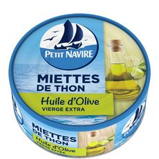 PETIT NAVIRE Miettes de thon à l'huille d'olive vierge extra 160g