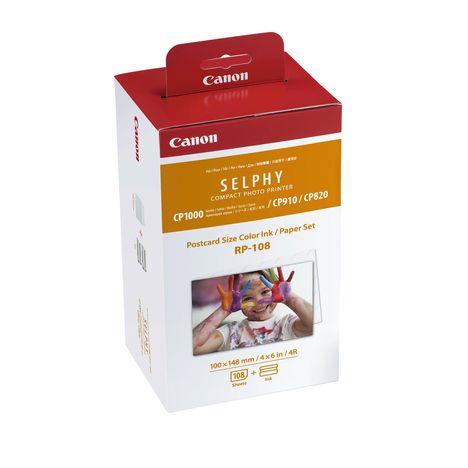 CANON Pack de 108 feuilles + encre - RP-108 pour imprimante SELPHY