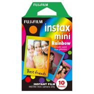 FUJIFILM Papier photo instantané - Films Instax Mini - Rainbow - 10 feuilles
