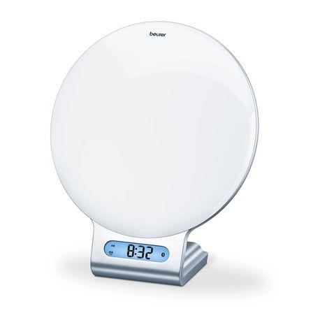 BEURER Radio-réveil lumineux connecté Bluetooth WL 75 : simulateur du lever et du coucher du soleil avec signal sonore, radio, 6 mélodies et 4 berceuses